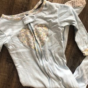 Toddler Girl Blue Heart Pajamas
